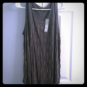 New with tags!! Charcoal gray tank top XL